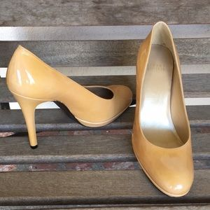 Stuart Weitzman Nude Patent Leather Heels